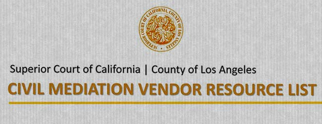 LA Court Vendor List